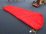 Red Nylon/Polyester Single Sleeping