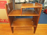 Wooden Hand Made Telephone Stand 3-Tier, Arched Skirting