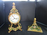 Ornate Design Tall Mantle Clock by Fabric Marke Made in Germany