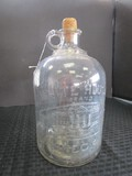 White Hose Brand Vinegar Clear Glass Jug w/ Cork