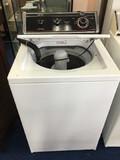 Vintage White Metal Whirlpool Top-Loading Washer