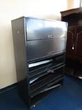 5 Black Metal Drawer Filing Cabinet