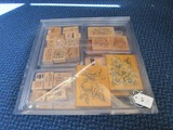 Lot - Stampin Up Stamps Wood w/ Misc. Christmas/Floral Designs