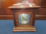 Howard Miller Clock Company Model #612436 Wooden Body, Column Sides w/ Gold Band Trim