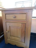 Wooden Side Table 1 Drawer, 1 Door Bow Skirting