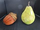 Pear Wooden Table Décor & Wicker/Wooden Acorn Décor