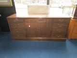 Boiling Furniture Wooden Buffet  w/ 7 Drawers w/ Brass Pulls, Lock w/ Key