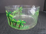Hand Painted Palm Tree Pattern Bowl