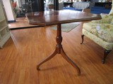 Wooden Square Top Table w/ Grooved Urn Design Pedestal Body 3 Grooved/Curved Legs