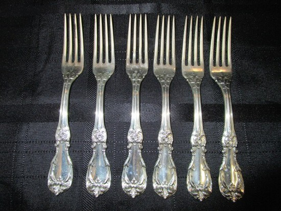 6 Forks Burgundy Pattern Sterling Reed & Barton
