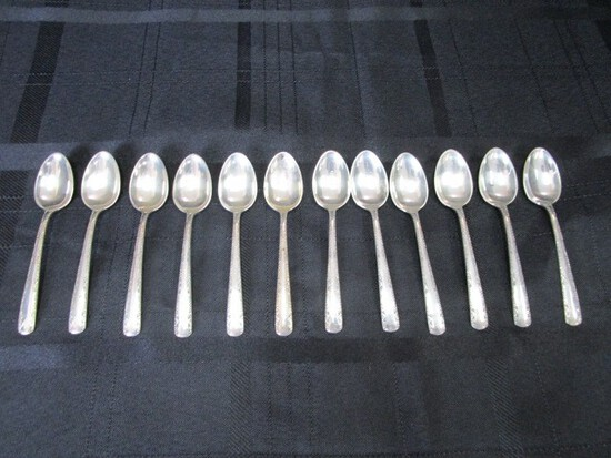 12 Gorham Sterling Pat. 1941 Camellia Demitasse Spoons