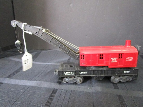 Lionel Lines Bucyrus Erie Class 250 Railroad Crane 6560 w/ Cargo/Loading Car NYC 6342