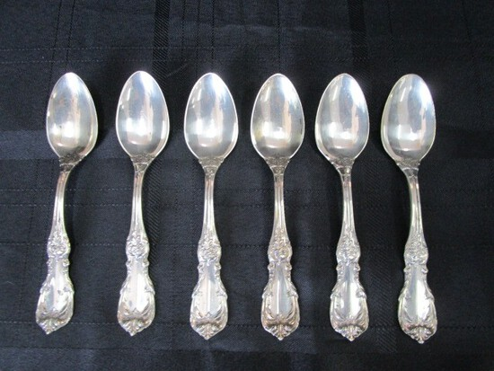 6 Spoons Burgundy Pattern Sterling Reed & Barton