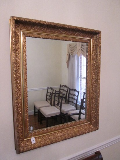 Wall Mounted Mirror in Ornate/Embellished Design Gilted Wood Frame/Matt