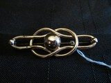 Napier Sterling Stamped Curved/Orb Design Brooch