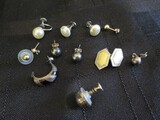 925 Lot - Earrings, 2 w/ Faux Pearl, 2 Ball, Miss-Matched Earrings