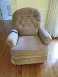 Reclining/Inclining Brown Upholstered Chair w/ Motor