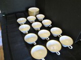 Lenox Mansfield Fine China Lot - 12 Cups/Saucers Gilted Rim