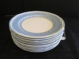 Villeroy & Boch Casa Azul Piccolo Fine China Blue Band 10 Plate 10 1/2
