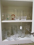 Glass Lot - Misc. Glass Cup, Wine Glasses, Whiskey Glasses, Etc. Misc. Designs