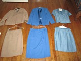 Lot - 3 Ladies Jacket/Dresses, Blue Vinci, Blue Kelly Graham Size 10 Tan Da-Rue