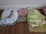 Lot - Placemats, Doilies, Fabric Tea Cozies, Etc.