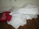 Lot - Top Covers, Pillow Cases, Lace Table, Covers, Etc.