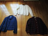 Lot - Liz Claiborne Black/Blue Jacket, Venesha High Quality Angora White Jacket