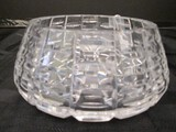 Crystal Lead Glass Cut Pattern, Star Burst Base Dish