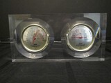 Clear Mantle Jason Thermometer & Hygrometer Japan