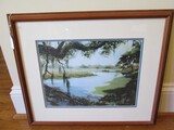 Magnolia Gardens by Guy Lipscomb Artist Signed in Bead Wood Trim Frame/Matt