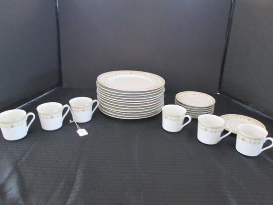 Garden Bouquet Fine China Gilted Rim, Floral Pattern Lot
