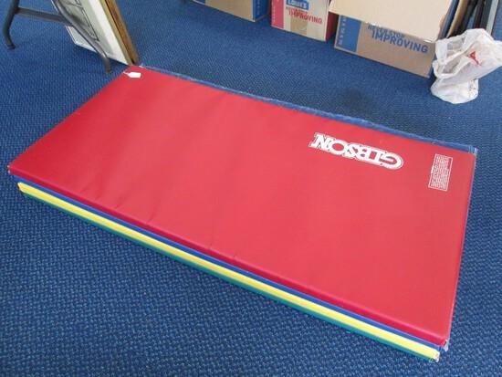 Folding Exercise Matt Green, Yellow, Blue, Red