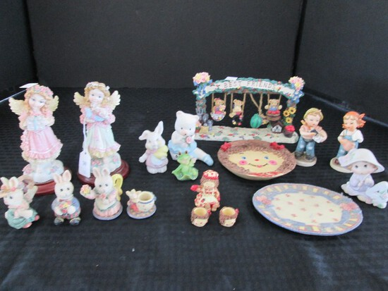 Misc. Lot - Angel Décor, Vintage 1964 'Just Kids by Inarro' Boy/Girl, Rabbits, Etc.