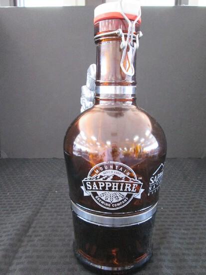 Sapphire Mountain Brewery Brown Glass Growler