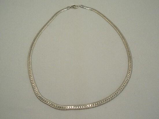.999 USA Herringbone Style China Necklace