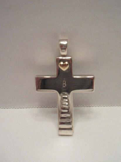 KC Studio Designer Kieselstein Cord .925 Sterling Silver Large Cross Pendant