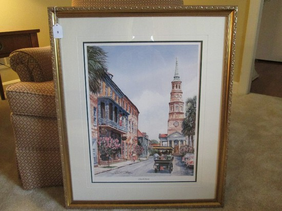 Church Street Limited 201/1000 Edition Litho Print Artist Signed Gordon Wheeler