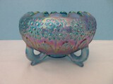Fenton Art Glass Original Formula Amethyst Carnival Glass Orange Tree Pattern Rose Bowl