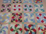 Early Hand Sewn Pinwheel Quilt