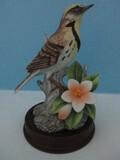 Andrea Fine Porcelain Collectors Series Meadow Lark Bird Figurine 6