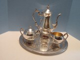 F.B Rogers Silverplate Classic Design Footed Coffee 11