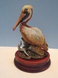 Rare Find Andrea Fine Porcelain Brown Pelican 7