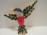 Stunning Norman Miller Glamour Collection Jacobin Style Humming Bird Brooch