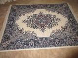 Classic Persian Design Floral Foliate Pattern Rug w/ Fringe