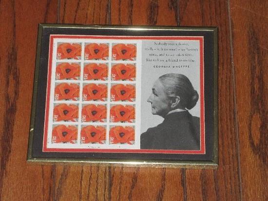 """Georgia O' Keefe """"Red Poppy"""" 1927 U.S. Postage 15 Stamp 32 Cents"""