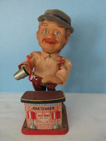 Vintage Charlie Weaver Battery Operated Bartender Animated Toy
