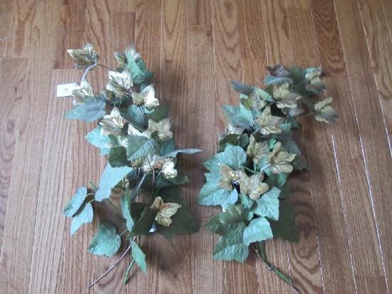 Brass Leaf/Faux Leaf Wall Décor