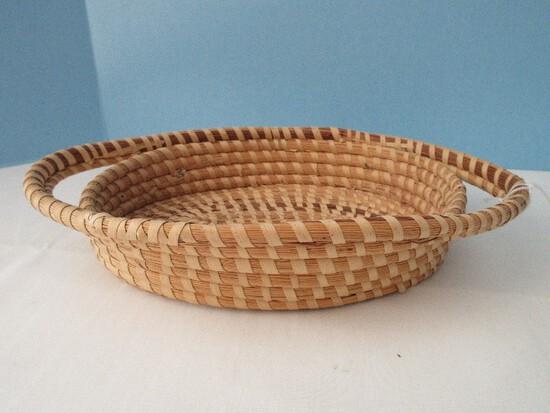 Charleston Sweetgrass Gullah Oval Basket w/ Double Handles