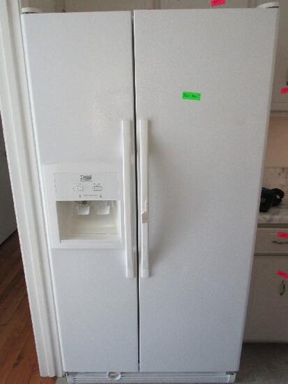 Estate by Whirlpool Corp Large White Fridge/Freezer w/ Water/Ice Dispenser